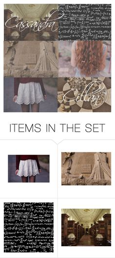 """""""2 // Cassandra Cillian"""" by kalmialatifolia ❤ liked on Polyvore featuring art, theLibrarians, 50favoritefictionalfemalecharacters and cassandracillian"""