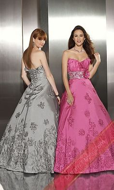 Stand Away Dress By 8710,Long Prom Dress,Pink Dresses for Prom 2012...Love the grey/silver one