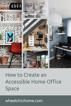 If you're working from home and need to create an inclusive home office space that's wheelchair accessible then there's lots of inspiration and ideas on my blog! Home Office Space, Spare Room, Dining Table, Sofa, Chic, Create, Blog, Inspiration, Ideas