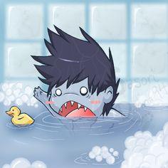 """""""Ducky, where's you going? Ducky? Ducky, come back!! Come back!! Ducky!!"""" - Makkura Murasuki"""