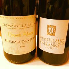 Rhône tasting! Domaine La Brune et Domaine L'Ameillaud