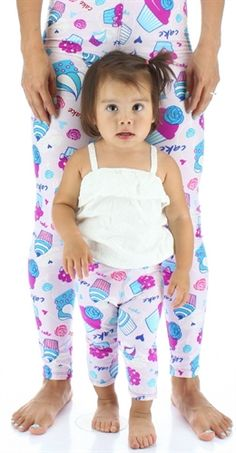 Mommy and Me Sweet Cakes Buttery Soft Leggings (Buskins Exclusive) Available in infant, toddler and kid sizes