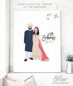 Indian Wedding Guest Book Alternative Indian by MissDesignBerryInc