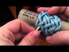 I show how to tie a pineapple knot using a 7x6 turks head base knot.