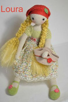 Collectible doll Elegant crochet doll child friendly  $93.89 ♥ by www.etsy.com/uk/shop/chepidoll