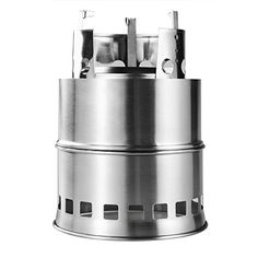 Camping Kitchen :Portable Stainless Steel Wood Burning Camping Stove 6.9x5.5 x 5.5 inch for Outdoor Cooking >>> More info  at this Camping Kitchen board