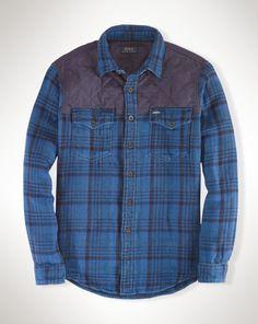 Plaid Twill Workshirt - Polo Ralph Lauren Standard-Fit - RalphLauren.com