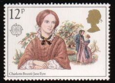 Charlotte Bronte Jane Eyre UK 16048 Framed by PassionGiftStampArt Uk Stamps, Love Stamps, Charlotte Bronte Jane Eyre, Emily Bronte, Postage Stamp Art, Going Postal, Envelope Art, Classic Literature, Penny Black