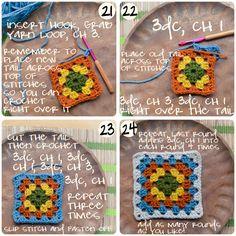 Crochet 101: Photo Illustrated Granny Square Pattern Tutorial