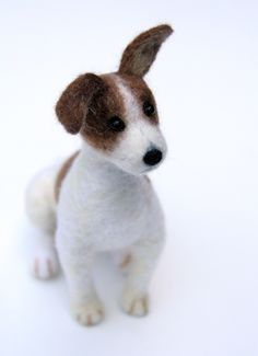 OOAK needle felted JACK RUSSELL TERRIER by Sophie Z.