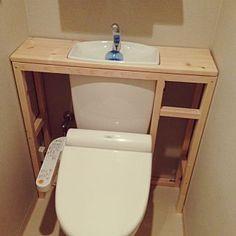 Bathroom/DIY/トイレ改造計画/タンクレス DIYのインテリア実例 - 2014-04-29 08:32:05
