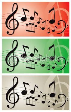 Music notes illustration vector banner — Image vectorielle Juliedeshaies © #65213857