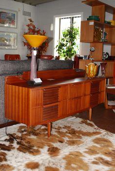 Low line mahogany sideboard
