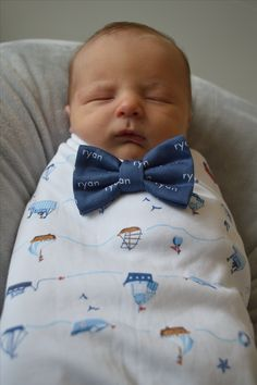 Personalized baby bow tie www.littlemr.com
