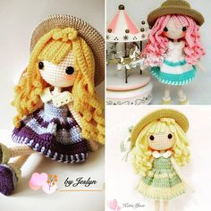 """Good morning Tuesday! ⛅ 珊倪 Sunni """"The Sunshine Girl"""" Pattern tested by @rita_c_chang & @katieyuenlj . Thank u both Each of us have our own Sunshine Girl. And how will your Sunshine Girl going to be like? Pattern now available in my Etsy Shop under RainbowConnex Www.etsy.com/sg-en/shop/RainbowConnex"""