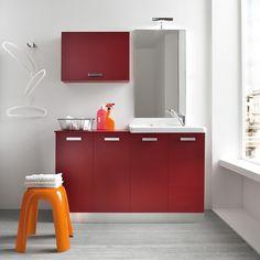 Waschmaschinenschrank für Badmöbel der Serie Atlantic - ARREDACLICK