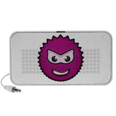 fuzzy hot pink smile iPhone speaker