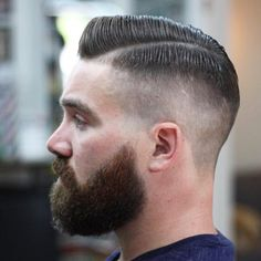 The top short hairstyles for men for the year 2018 are eye-catching and somewhat sophisticated. Today the short mens hairstyles have become particularly. Dapper Haircut, Gentleman Haircut, Beard Haircut, Fade Haircut, Mens Hairstyles With Beard, Hair And Beard Styles, Haircuts For Men, Short Hair Styles, Handsome Bearded Men