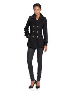 Miss Sixty Women's DB Pea Coat With Pleated Back Detail - List price: $200.00 Price: $140.00 Saving: $60.00 (30%)