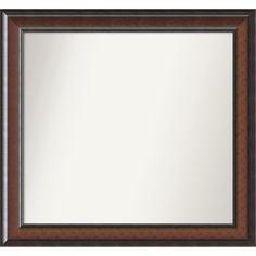Wall Mirror Choose Your Custom Size, - Medium Cyprus Walnut (Brown) Wood (Outer Size: 27 x 26-inch) (Glass)