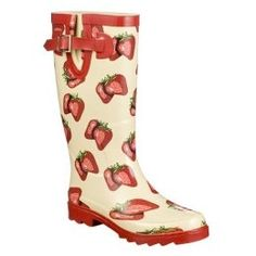 strawberry rain boots | The Beehive Cottage: Strawberry Rain & Garden Boots!