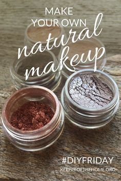 Not so long ago, I discovered that you can make your own natural makeup at home. As it turns out, it's not even that hard: it's a DIY project that turns into a fun girls' day for us. We are using mica powder, zinc oxide, and activated charcoal to make our own natural mascara, lip tints, and powders. Basically they are ground minerals that are naturally occurring in the earth. The bonus is that minerals can be beneficial to your skin. << Keeper of the Home