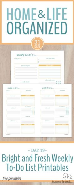 Free Weekly to-do list printables are a great tool to use to plan your week.