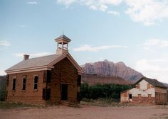 Ghost Towns in Utah   Zion National Park in Utah: Church and house, Grafton Ghost Town