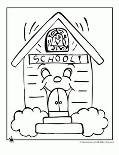 9 cute school coloring pages perfect for back to school activities for both kindergartners and preschoolers