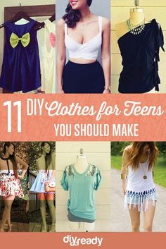 DIY Clothes for Teens | Awesome Refashion Ideas Perfect for your Spring and Summer Outfit by Diy Ready at http://diyready.com/diy-clothes-for-teens/