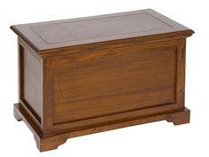 Baúl de madera estilo colonial