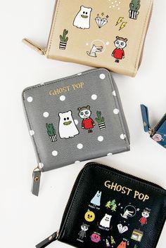 [바보사랑] 귀여운 고스트 캐릭터 지퍼월렛 /지갑/캐릭터/반지갑/고스트/선물/동전지갑/유령/일러스트/Wallet/Characters/Ghost/Gift/Coin Purse/Illustration