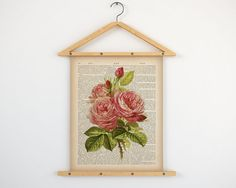 """Dictionary rose print, Dictionary print vintage, Wall art vintage, Rose print, Rose printable, Antique rose print, 8x10 wall art, 11x14 art.  All dictionary prints: https://www.etsy.com/shop/LizasDictionaryArt  YOU WILL RECEIVE 300dpi RESOLUTION 2 JPG FILES!!!  1 JPG file at 8X10 inches; 1 JPG file at 11X14 inches.  IF YOU PREFER ANOTHER SIZE of this print you may request a custom order and I will resize it. Just press the button """"Request custom order"""", write dimensions an..."""