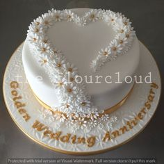 cupcake decorating ideas shaped golden anniversary cake weddings 12789