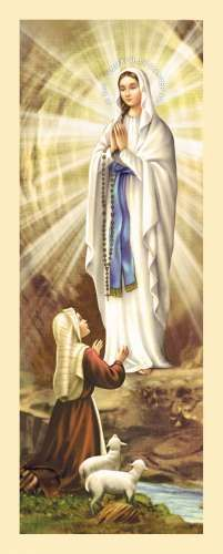 Our Lady of Lourdes Bernadette Of Lourdes, Santa Bernadette, Blessed Mother Mary, Blessed Virgin Mary, Chicano, Vintage Holy Cards, Images Of Mary, Mama Mary, Queen Of Heaven
