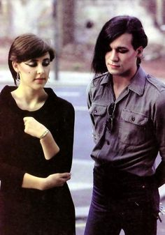 Phil Oakey and Joane Catherall of the Human League, 1981