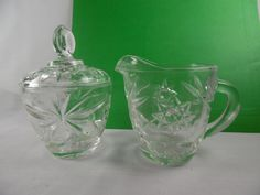 Classic 1960's Cream and Sugar Set Star of David by Anchor by TheMichiganAttic