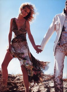 Eva Herzigova   Photography by Mario Testino   For Roberto Cavalli Campaign   Spring 2002 #evaherzigova #mariotestino #robertocavalli #2002
