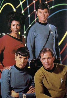 Publicity photo, from the  1960's television series STAR TREK (original vintage image color and black level adjusted).