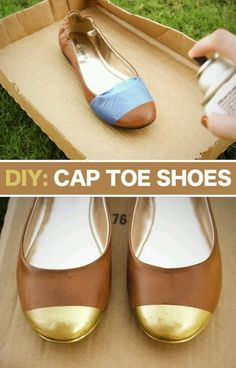 Shoe Makeover - Two-Tone Shoes