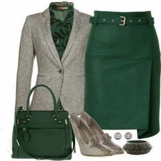 green skirt outfit - Google Search