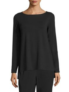Eileen Fisher - Solid Boatneck Top