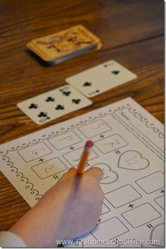 FREE Deck of Cards Math - Super CLEVER, unique, and ever changing Addition Worksheets for first grade and 2nd grade kids. Perfect for math centers, morning seat work, homework, and homeschool.