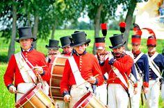 The Battle of Caulk's Field reenactment for the Bicentennial of the War of 1812.  Kent County, MD.