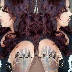 Plum!!! Vibrant red violet hair color