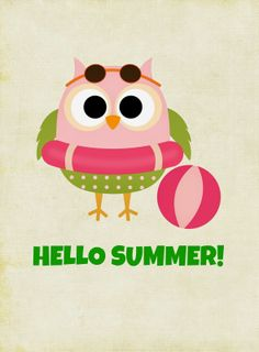 FREE Owl Themed Summer Printables For Instant Decor! you glad it's almost summer printable tag you glad it's summer printable you glad it's summer printable tags printables printables for preschoolers printables free Free Summer, Happy Summer, Summer Fun, Owl Crafts, Subway Art, Owl Art, Cute Owl, Journal Cards, Summer Activities