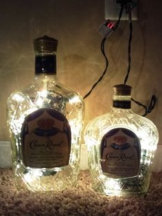 Crown Royal lighted bottles