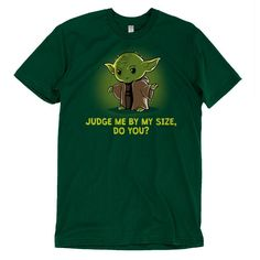 Size Matters Not - This official Star Wars t-shirt featuring Yoda is only available at TeeTurtle!