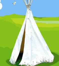Tente d'indien sans décor - h.170 cm. Diam 100cm jouet-et-cie.com : des jeux et jouets pour toute la famille