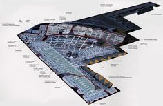 B-2 stealth bomber cross section [1500 x 984].